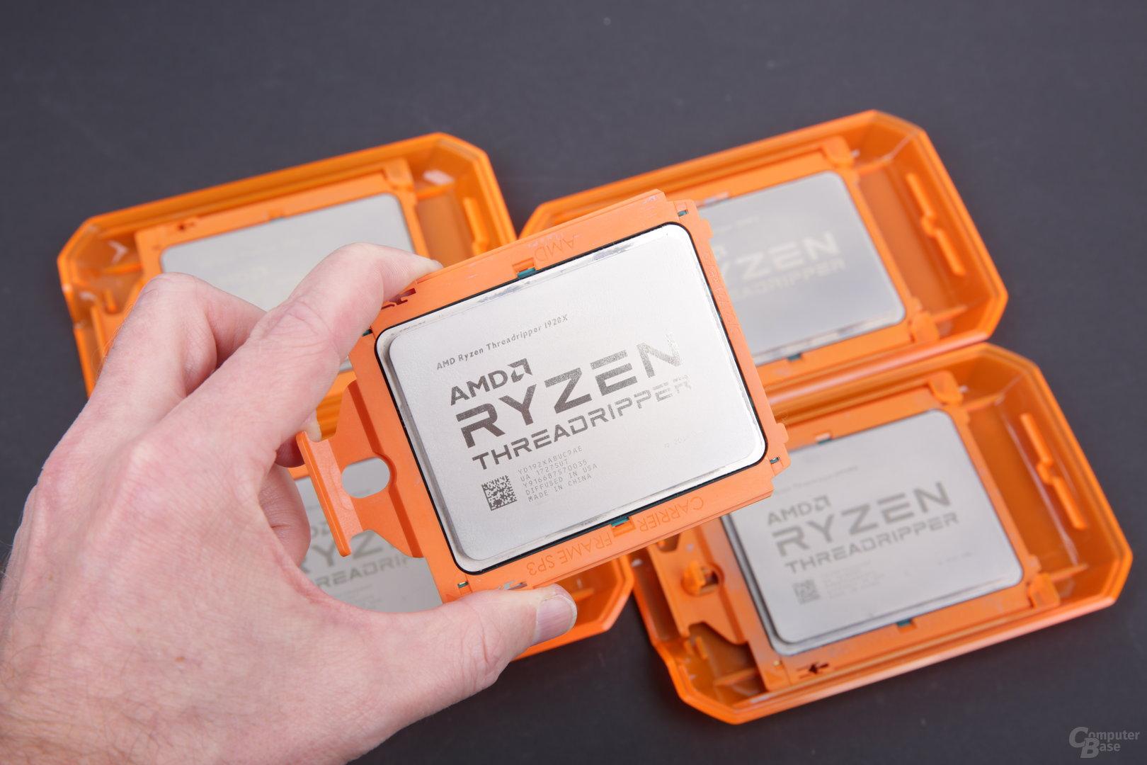 Der AMD Ryzen Threadripper 1920X steht bei Preis/Leistung über den vier Neulingen