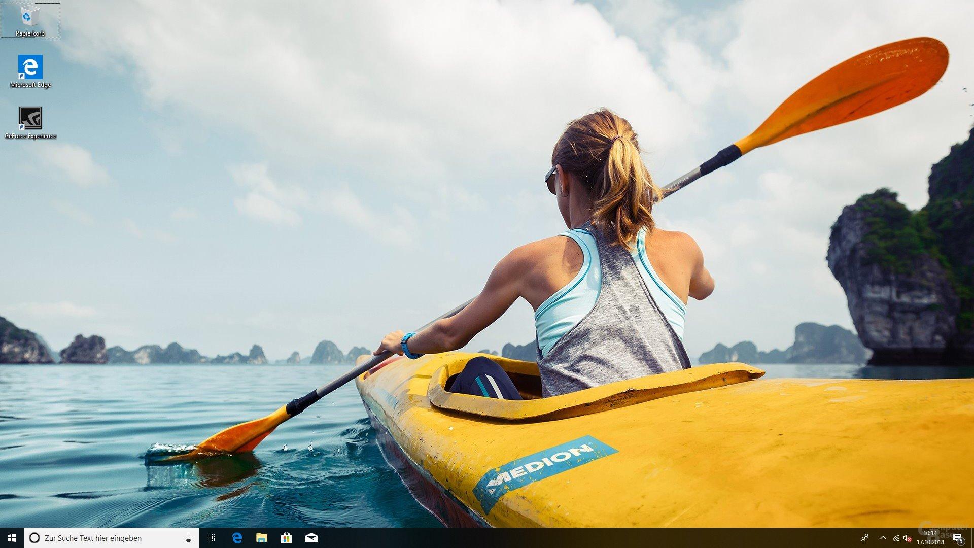 Der Desktop nach dem 1. Start