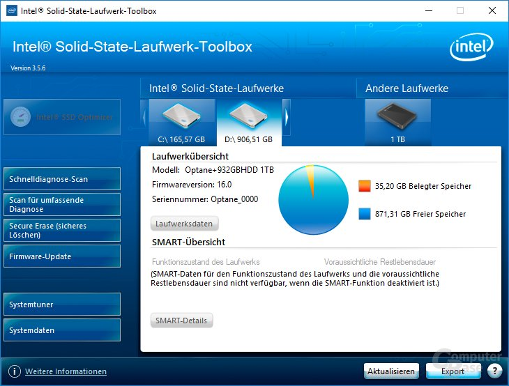 Medion kombiniert Optane Memory mit der HDD