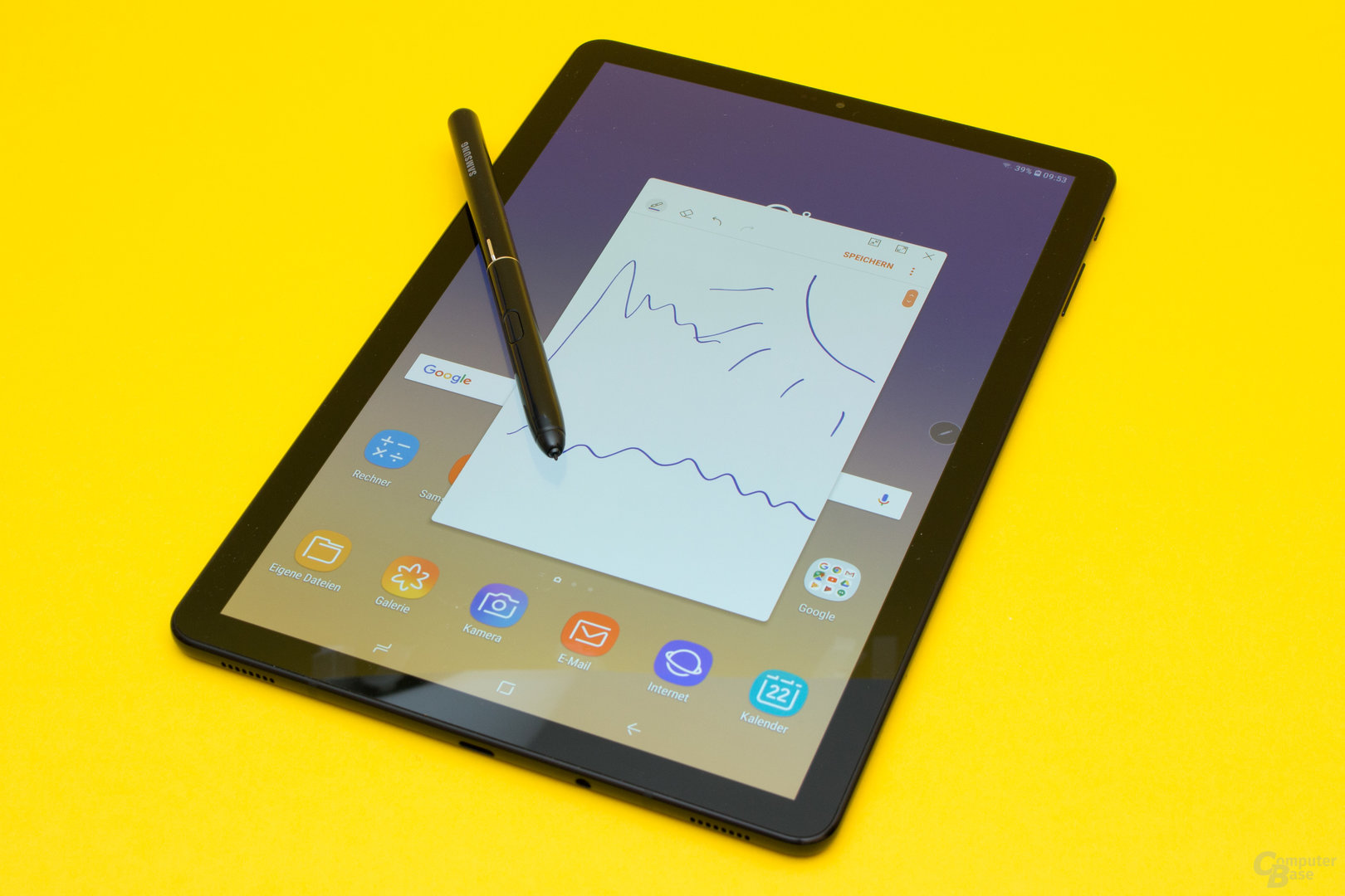 Das Galaxy Tab S4 verfügt über eine gute Stifteingabe