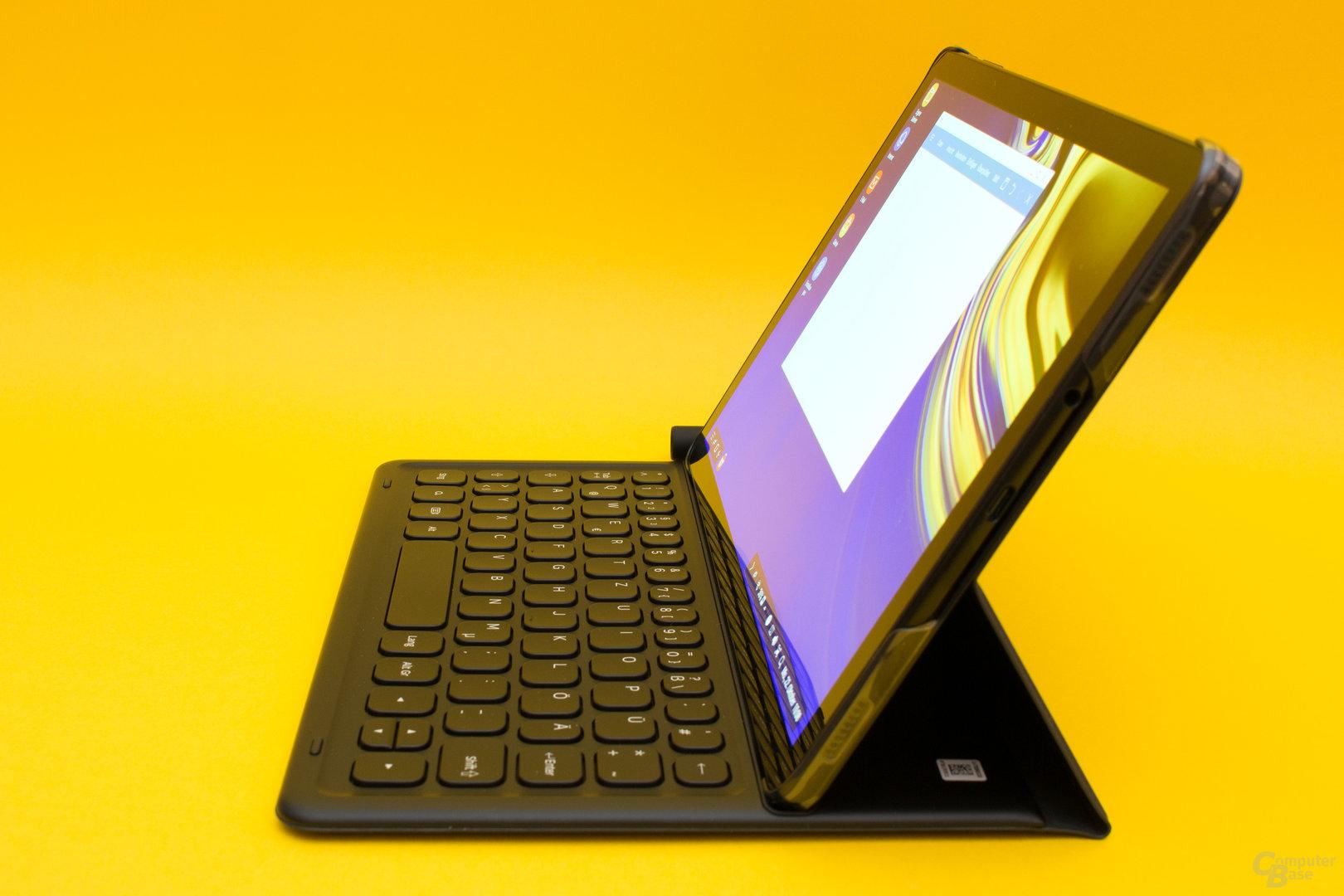 Das Cover Keyboard lässt nur eine Tablet-Stellung zu