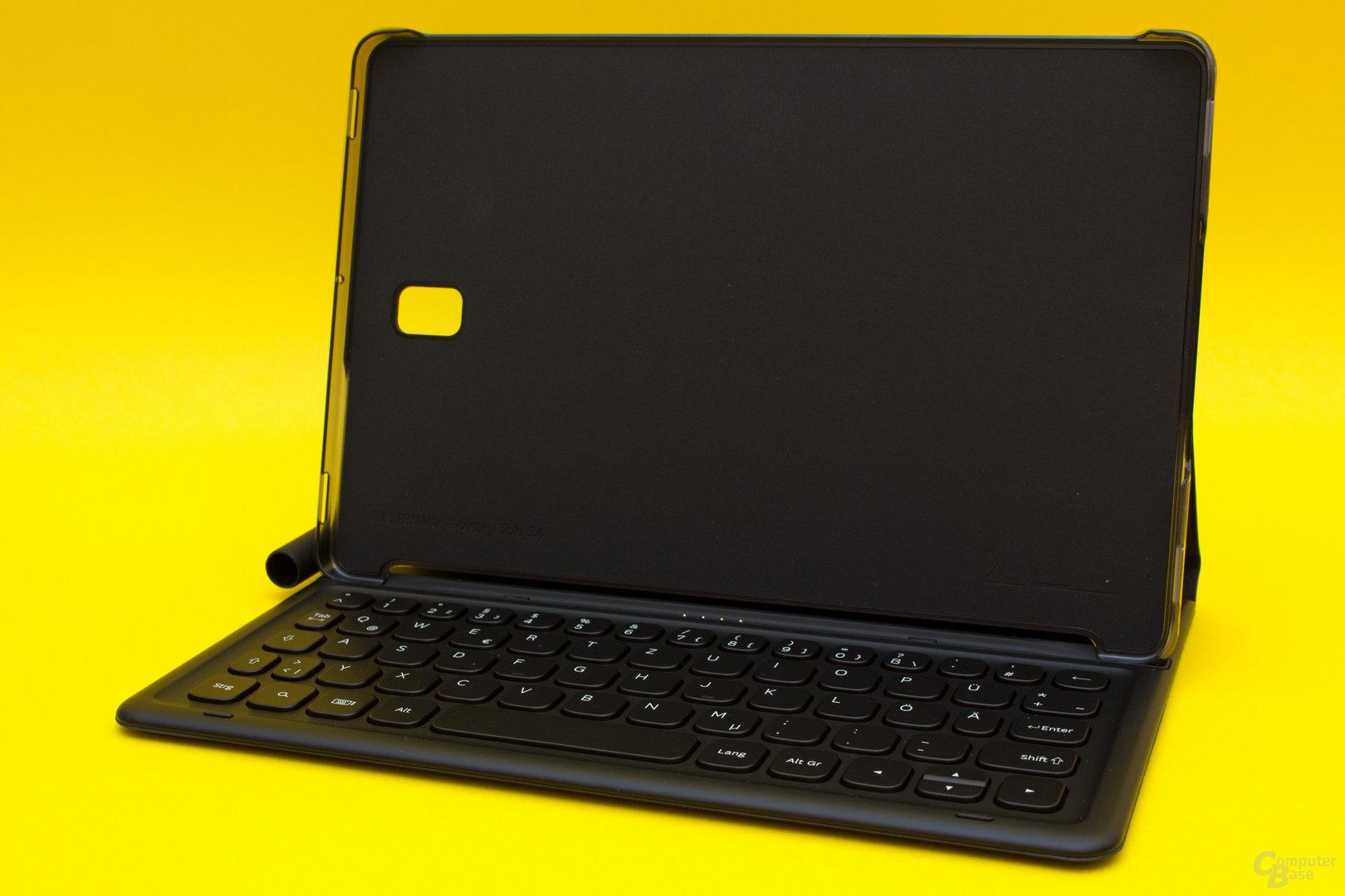 Die für das Samsung Galaxy Tab S4 optional erhältliche Keyboard-Hülle