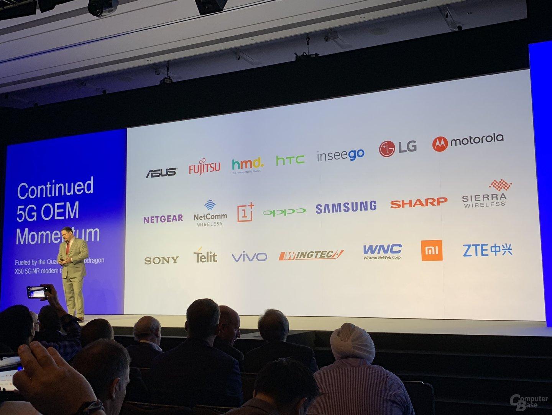 OEMs mit Unterstützung für das Snapdragon X50