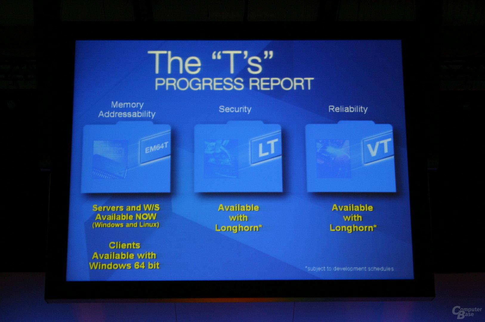 EM64T kommt mit Windows 64 zu den Clients