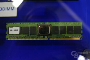 FB-DIMM mit AMB (Advanced Memory Buffer)-Chip von NEC