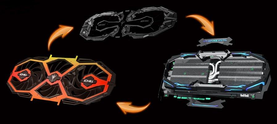 Inno3D iChill-X3-Kühler – Tausch der Lüfter