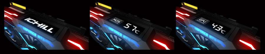 Inno3D iChill-X3-Kühler – das OLED-Display