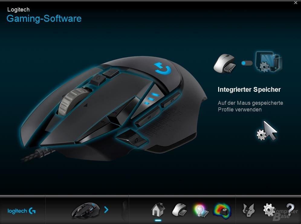 Logitechs Software ist übersichtlich und funktional gestaltet