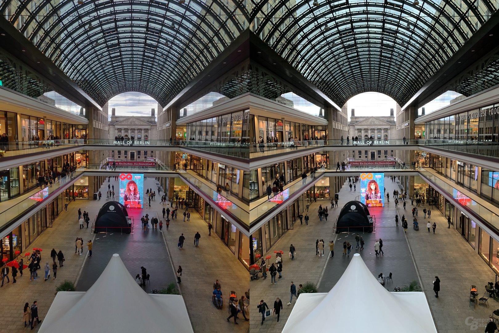 OnePlus 6T (l.) vs. Apple iPhone Xs Max (r.)