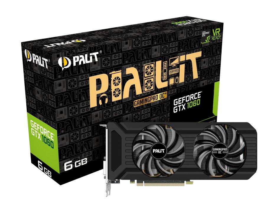 Palit GeForce GTX 1060 GamingPro OC+ mit GDDR5X