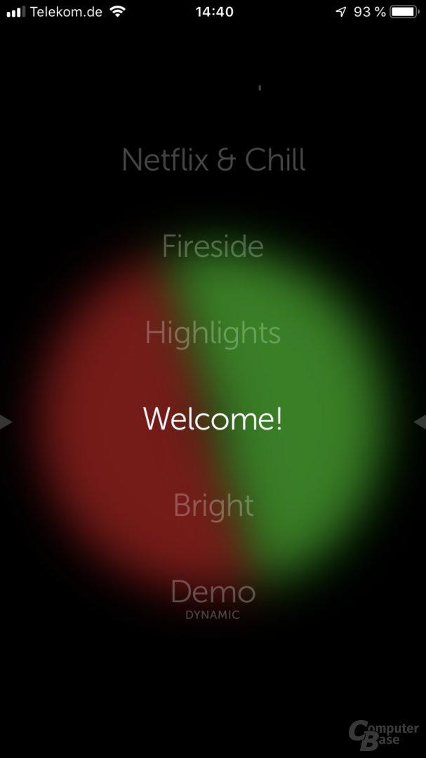 Inbetriebnahme des Model F über die App