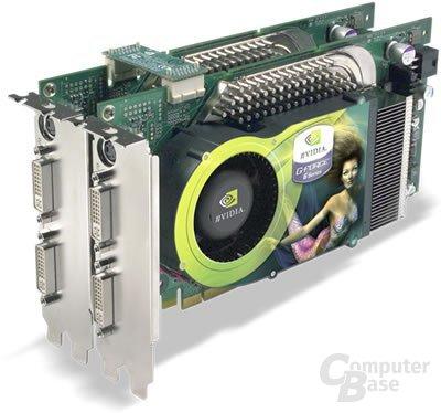 Zwei GeForce 6800 Ultra im SLI-Betrieb