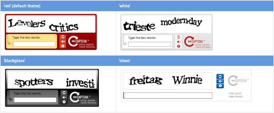 reCAPTCHA v1: Texterkennung