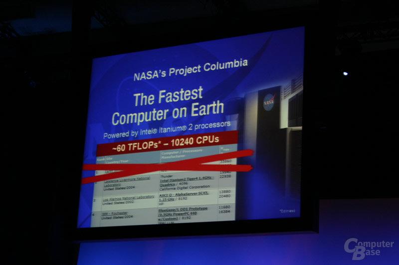 Project Columbia will den ersten Platz in der Top 500-Liste