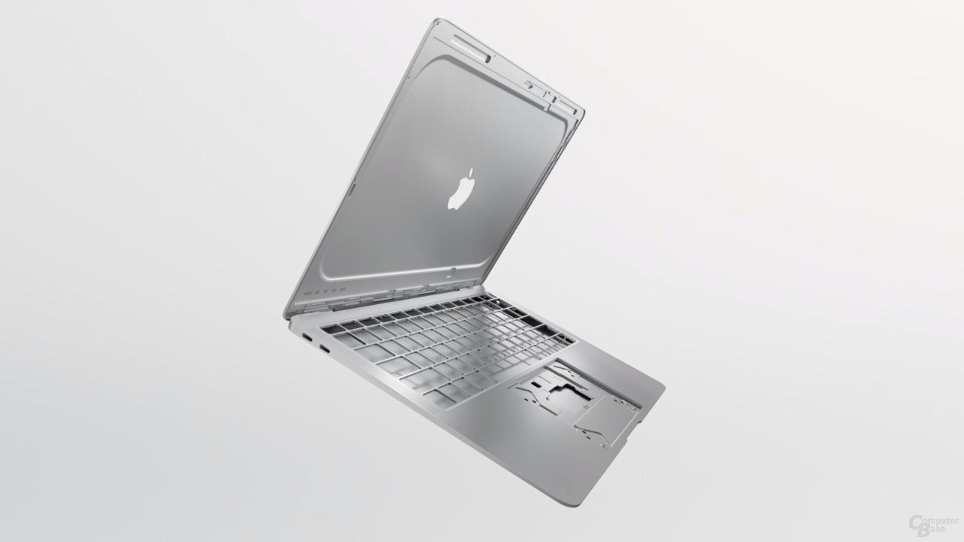 Das Gehäuse setzt zu 100 Prozent auf recyceltes Aluminium