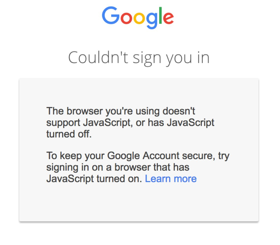 Google – Login ohne JavaScript