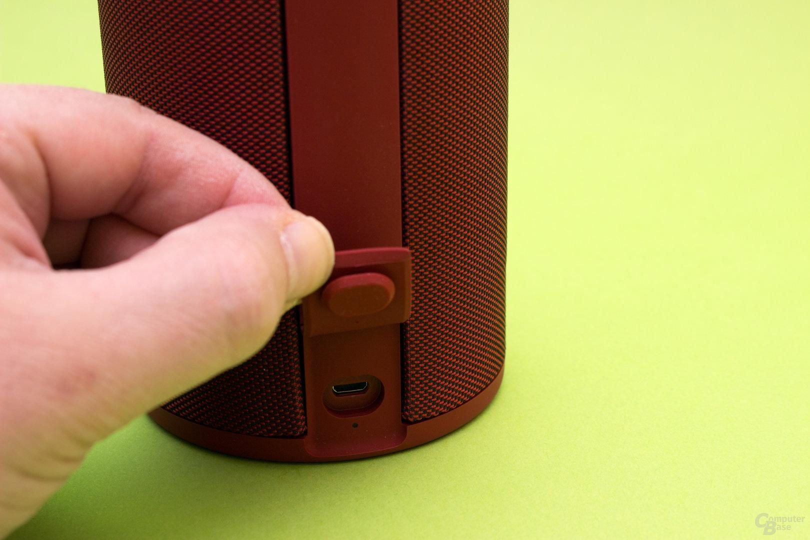 Gut geschützter USB-Anschluss
