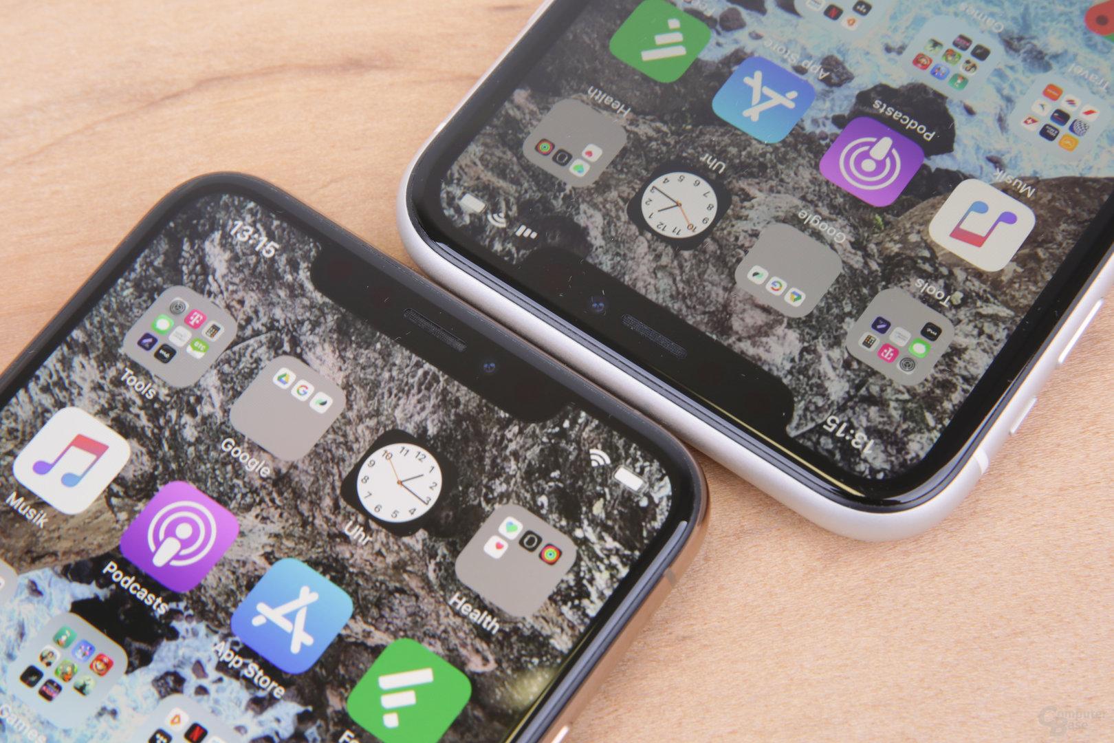 Notch für Face ID beim iPhone Xr (oben)