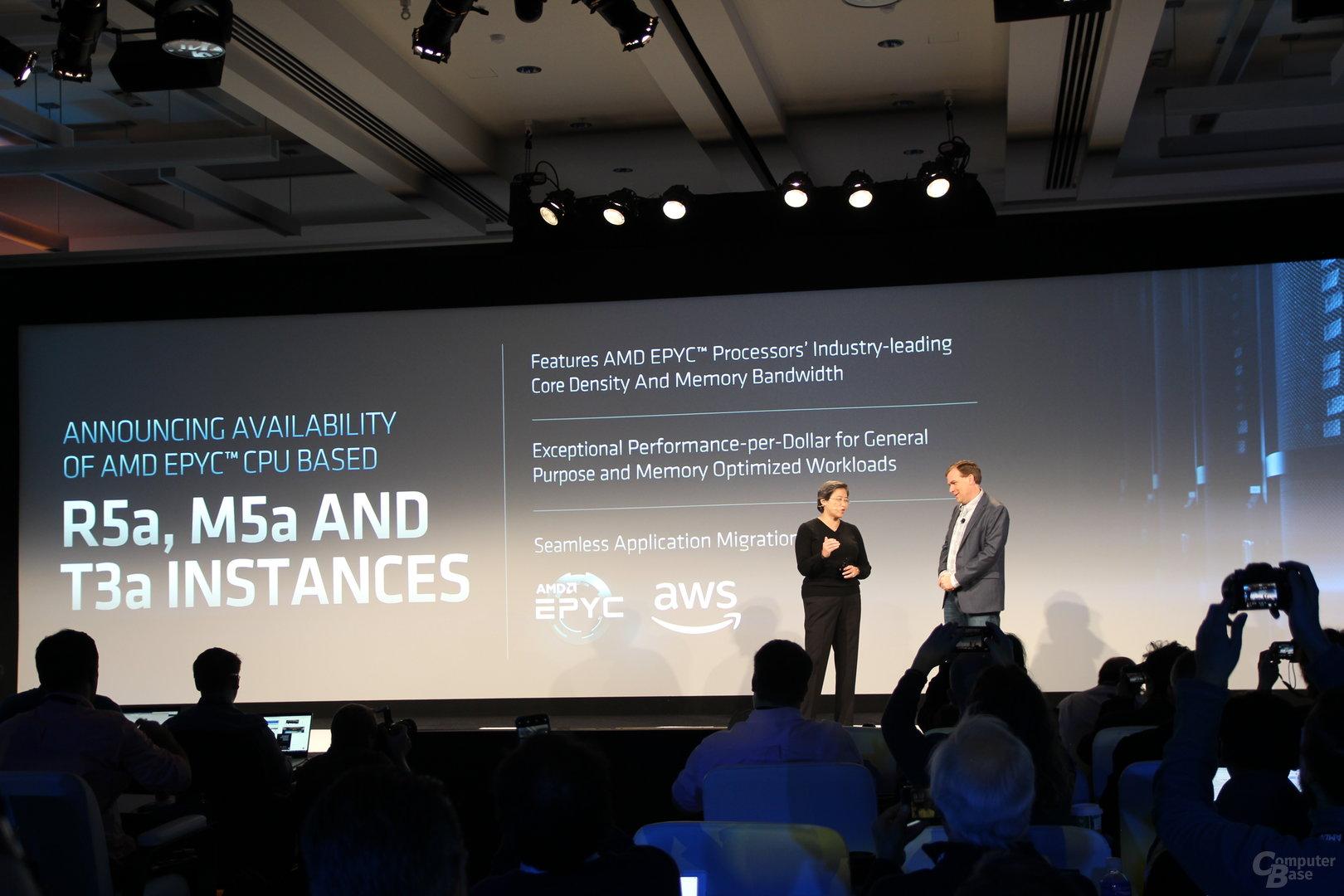 Drei AWS-Instanzen mit AMD Epyc