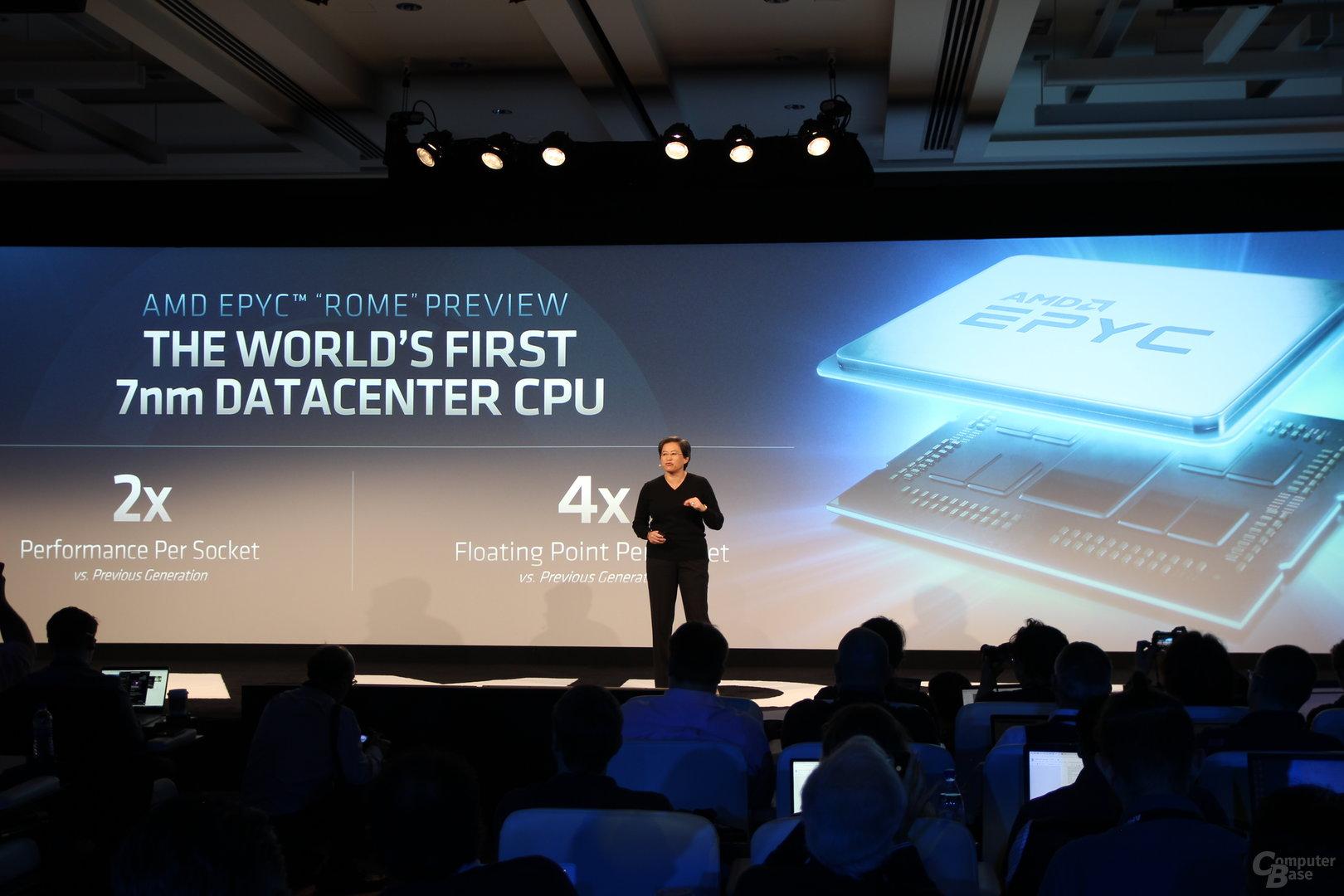 AMD Epyc 2 Rome mit 64 Kernen