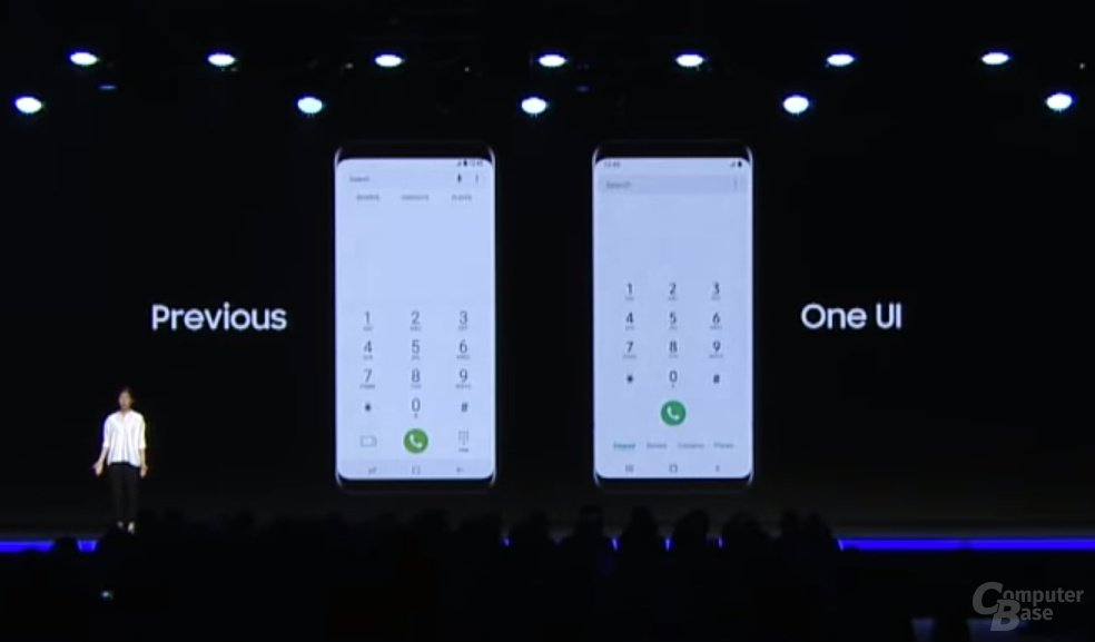 One UI: Neues Design der Telefon-App