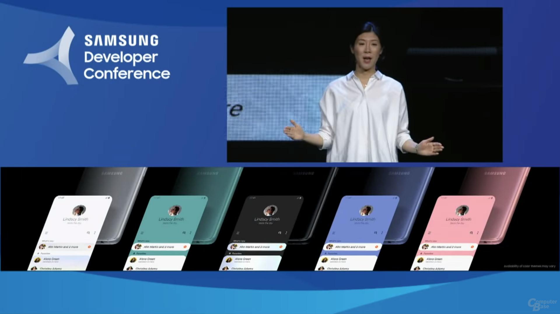 One UI: Akzentfarbe passt sich der Gerätefarbe an