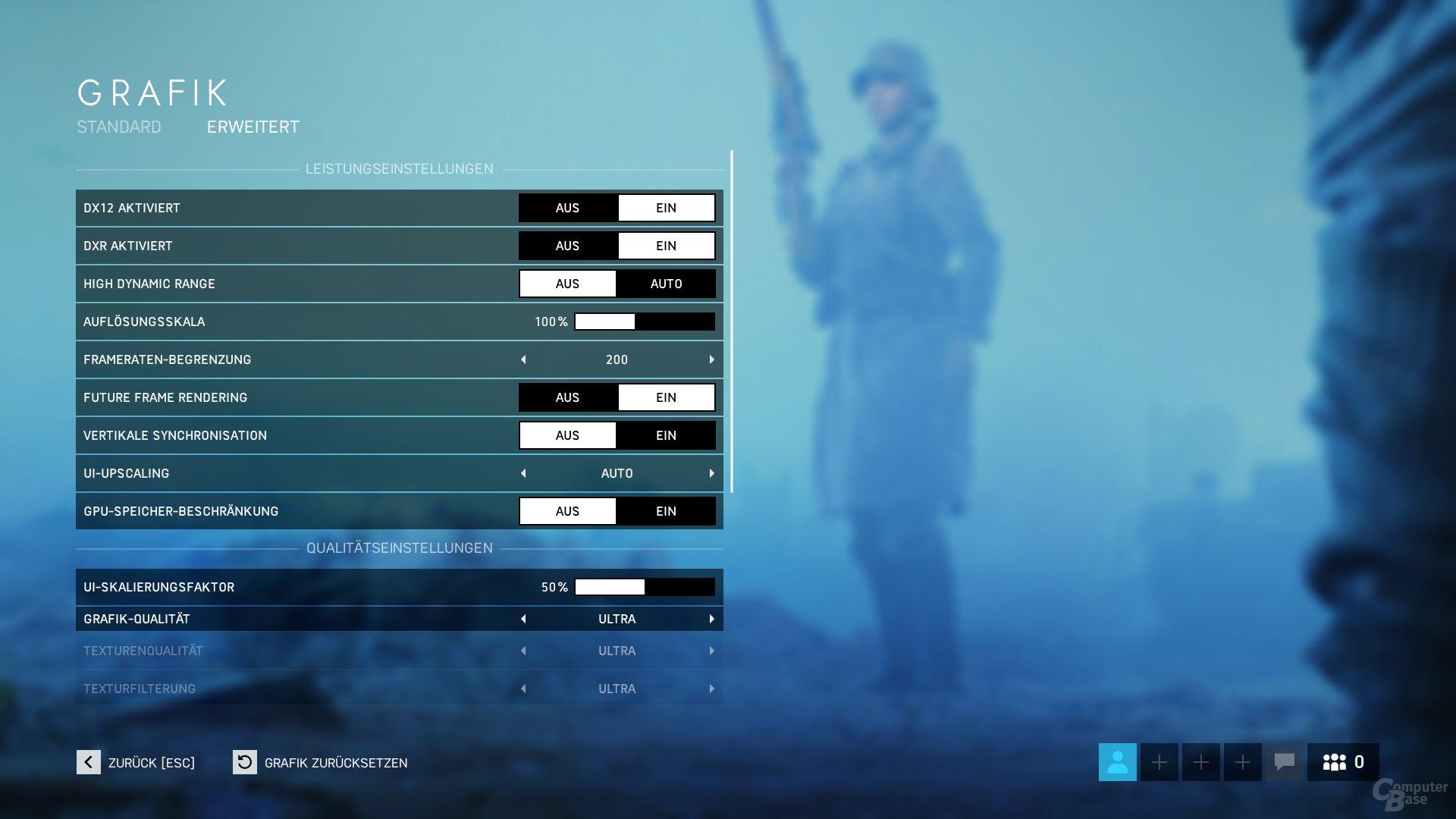 Battlefield V mit DXR Raytracing