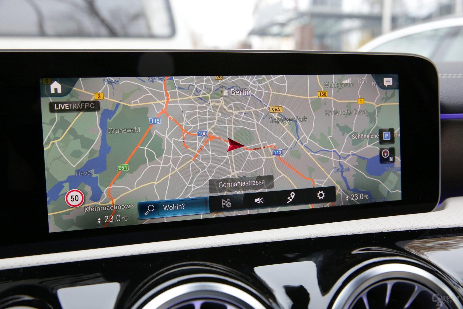 Navigation auf niedriger Zoomstufe mit 2D-Ansicht