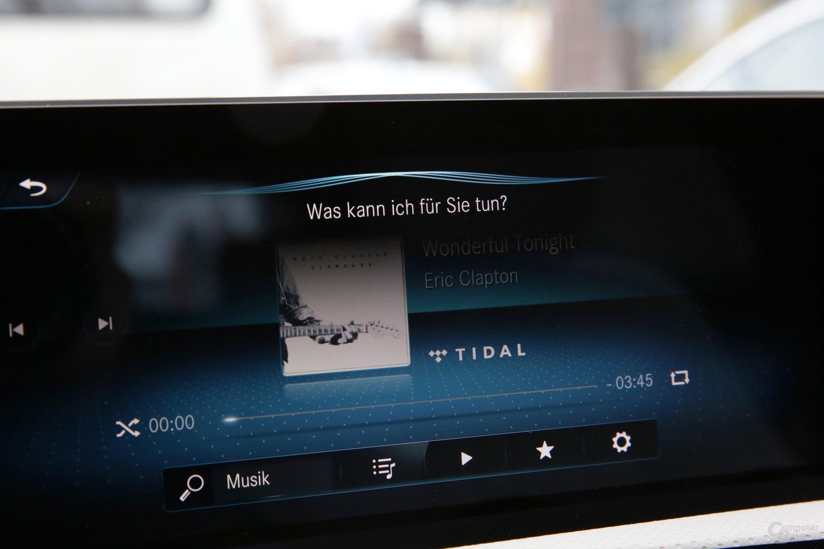 Hey-Mercedes-Interface nach Sprachbefehl