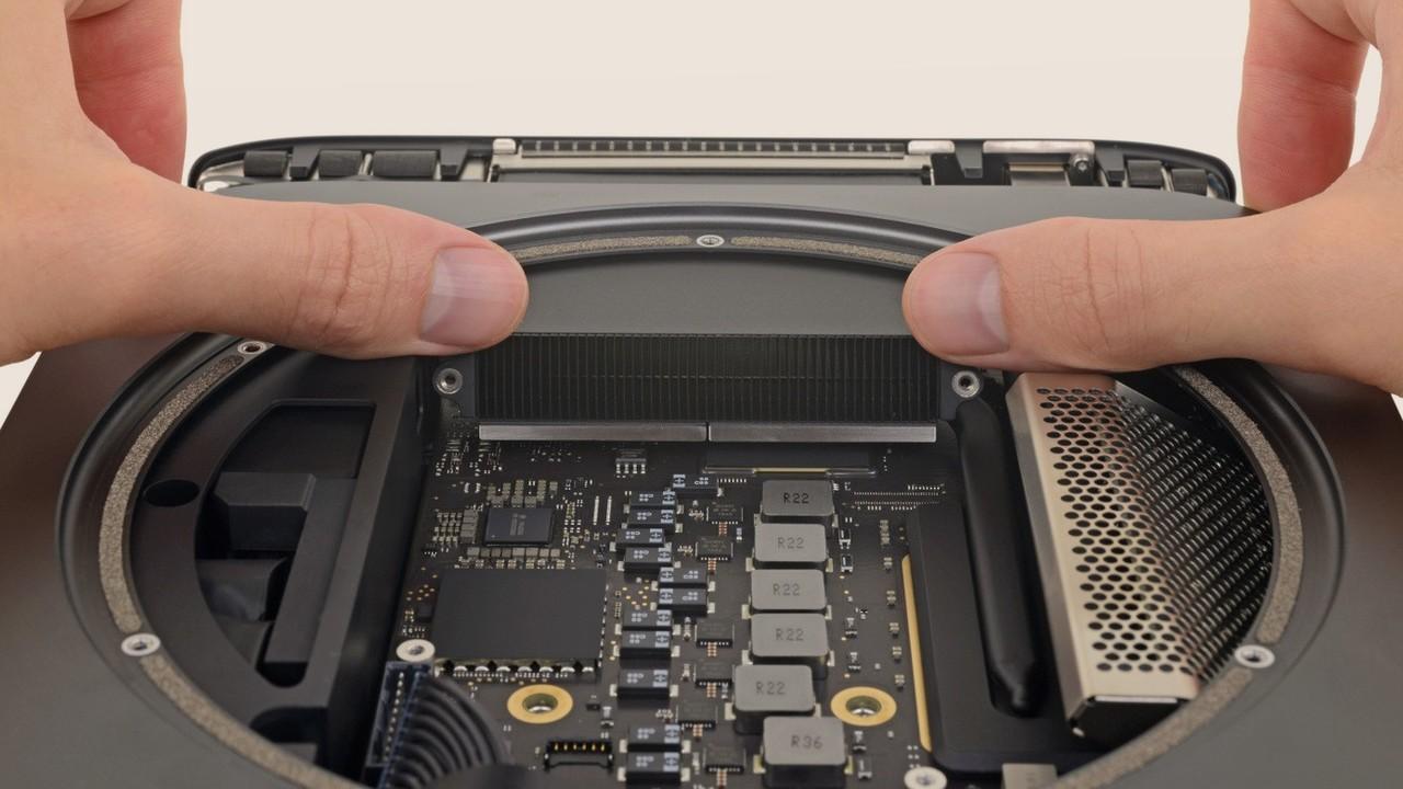 Mac Mini 2018: Arbeitsspeicher schwer zugänglich, SSD verlötet