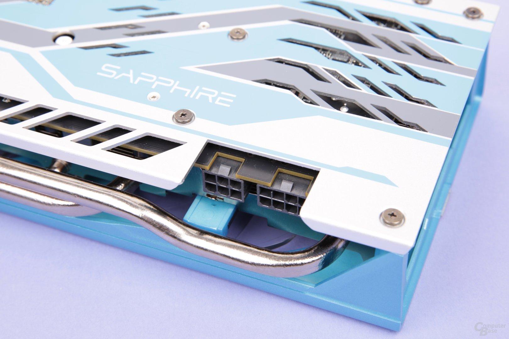 Sapphire Radeon RX 590 Nitro+ SE – Stromanschlüsse