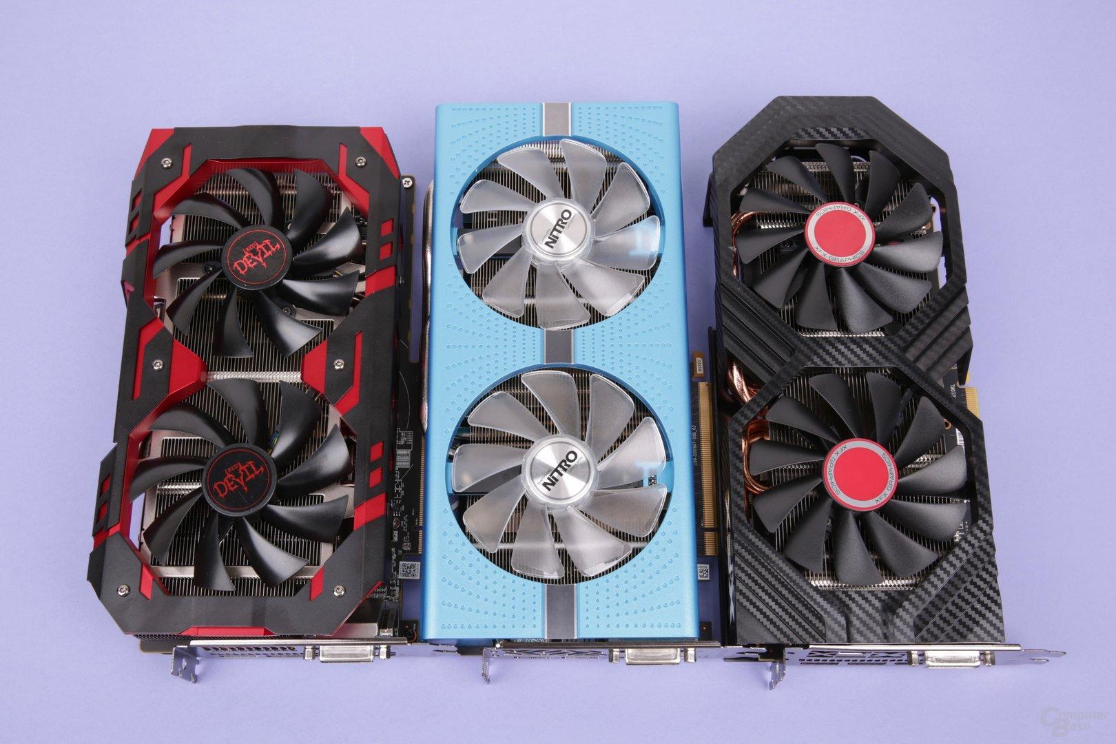 Radeon RX 590 von PowerColor, Sapphire und XFX