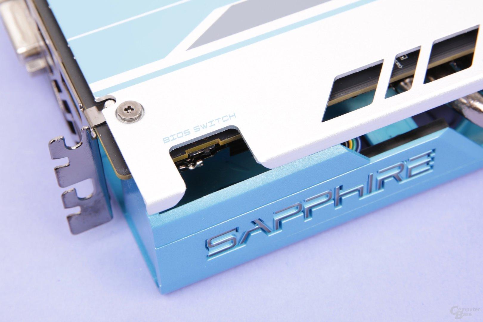 Sapphire Radeon RX 590 Nitro+ SE – BIOS-Switch