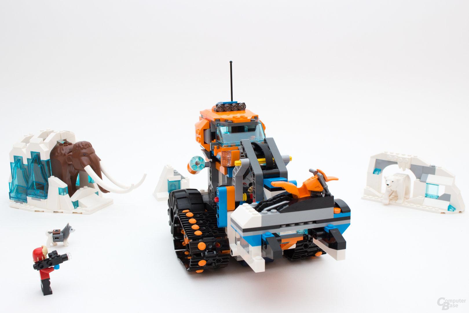 Der mit Boost ergänzte Arktis-Erkundungstruck wirkt knubbelig und erinnert an den M.T.R. 4 aus dem Boost-Set