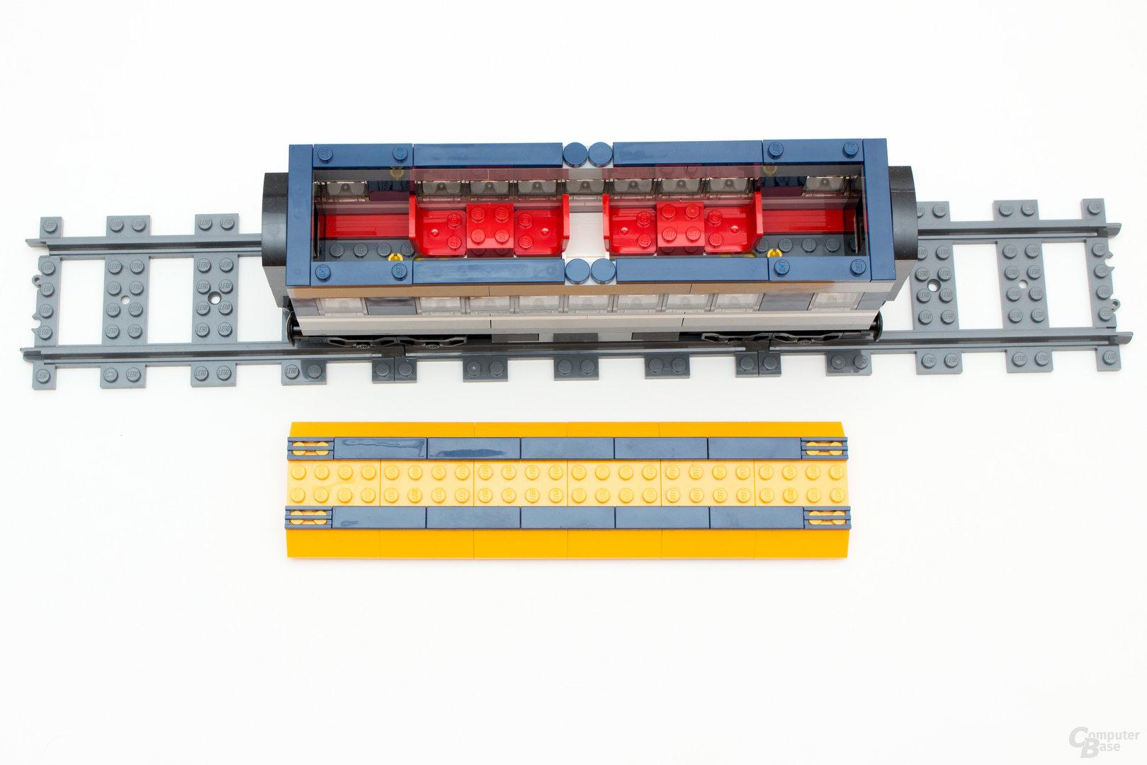 Der Abteilwagen des neuen Personenzuges 60197