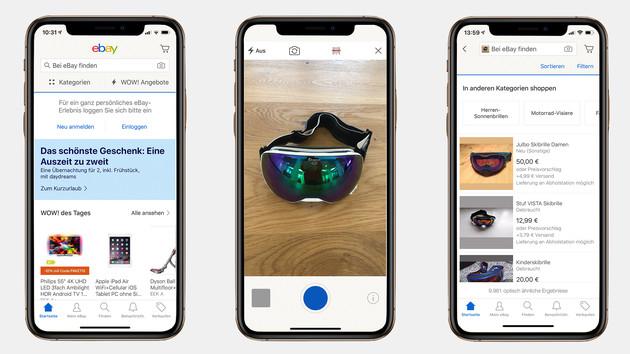 eBay: Shopping-App bietet jetzt auch Bildsuche