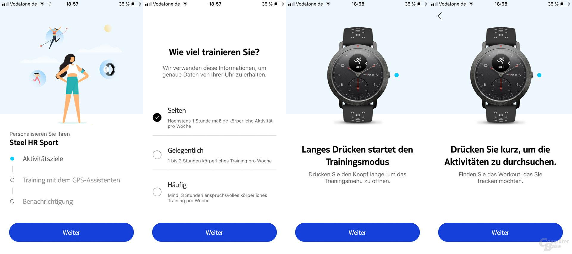 Withings Health-Mate-App Einführung