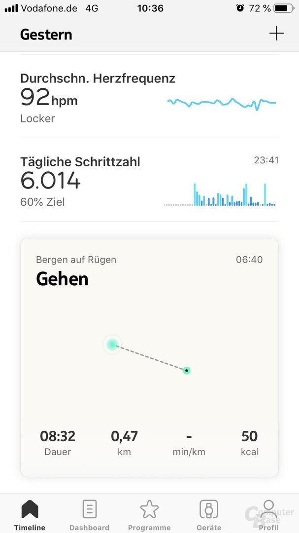 Withings Health-Mate-App: Training ohne Smartphone