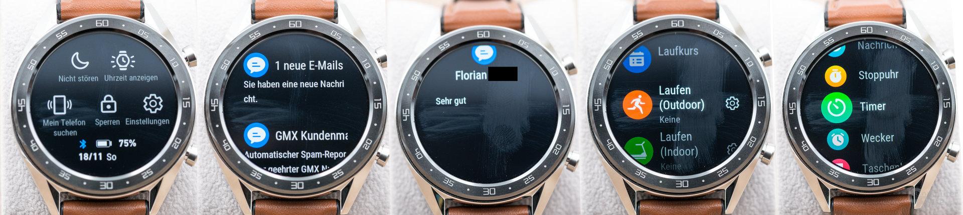 Huawei Watch GT: Menüführung und Benachrichtigungen