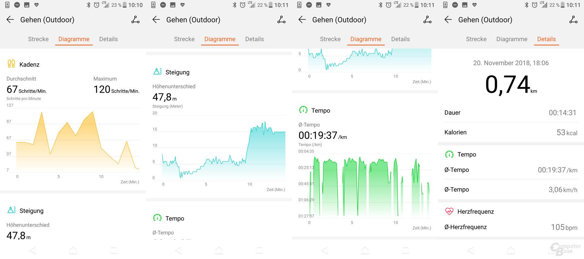 Health-App: Workout-Übersicht