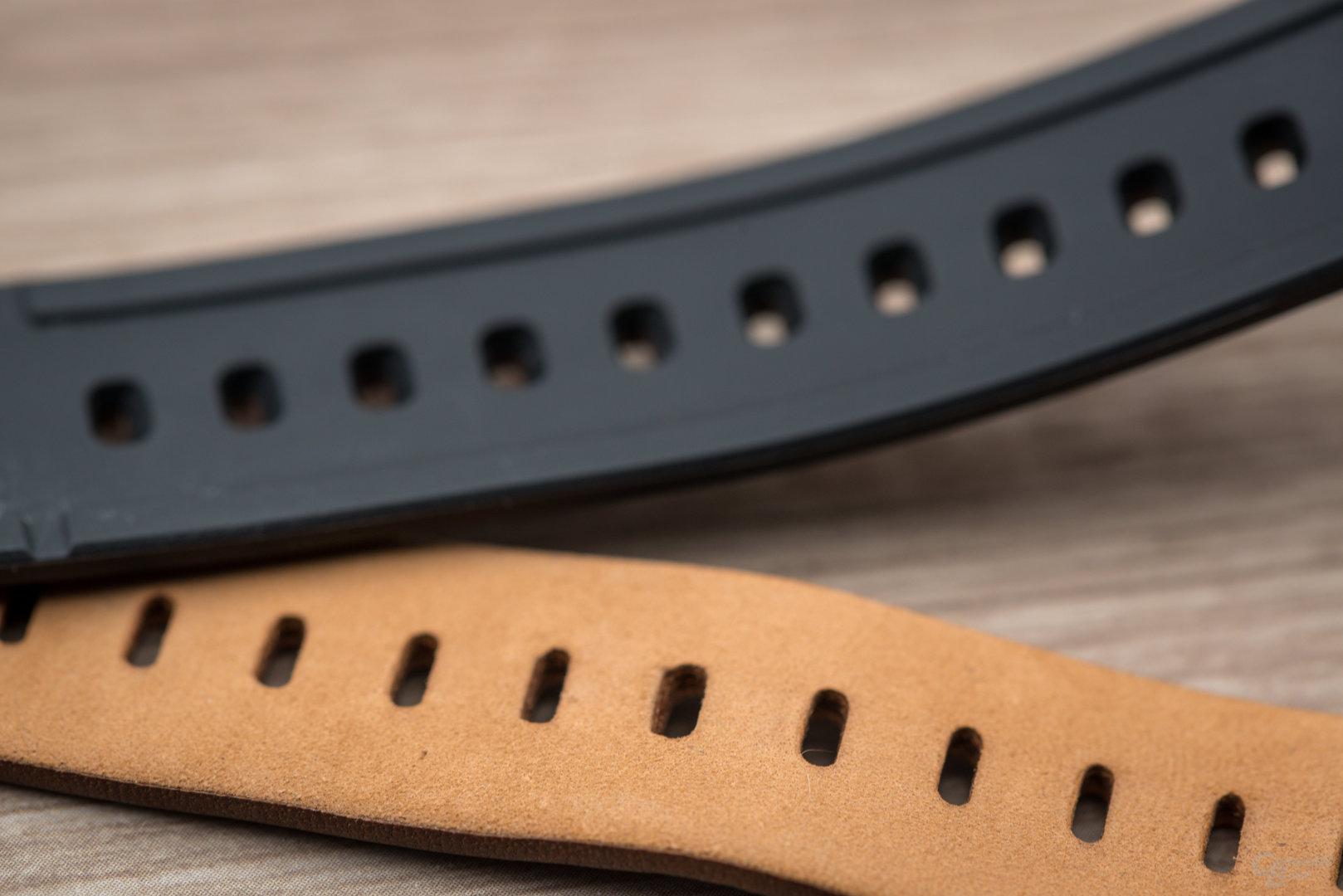 Huawei Watch GT: Lederarmband im Vergleich zur Garmin Vívomove HR