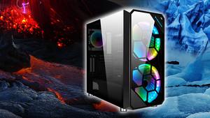 Xigmatek Zest: Zweimal Glas und dreimal RGB mit vertikaler GPU