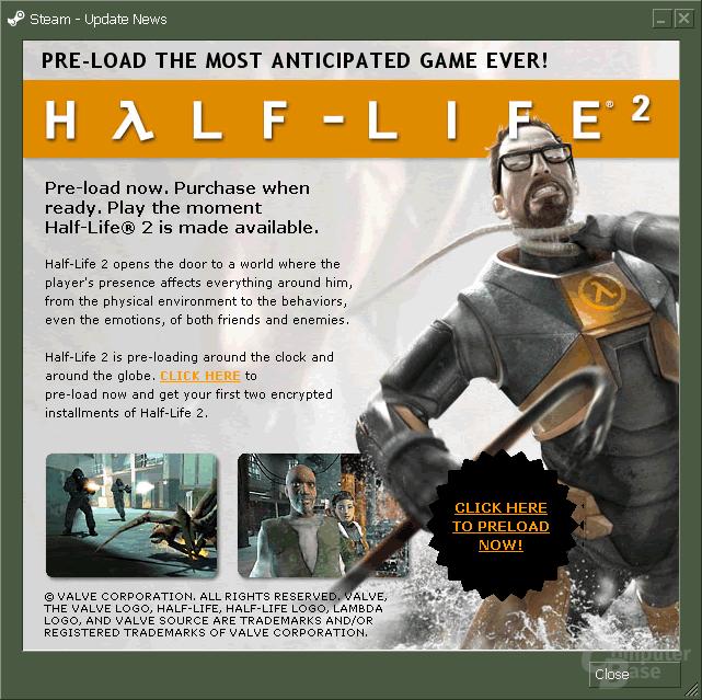 Half-Life 2 Preload geht weiter