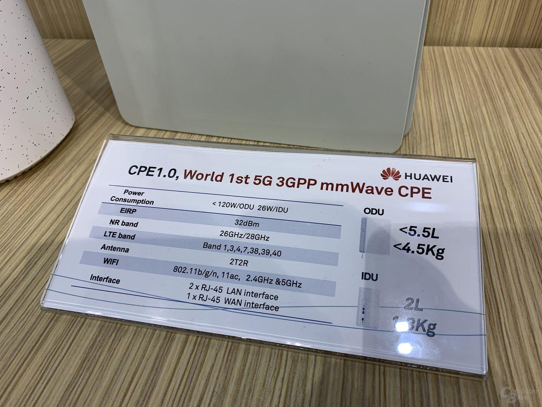 Datenblatt des 5G-Routers für mmWave
