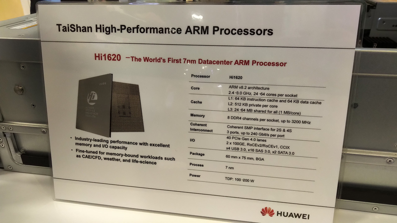Huawei HiSilicon Hi1620: ARM-Server-Prozessor mit 64 Kernen in 7 nm