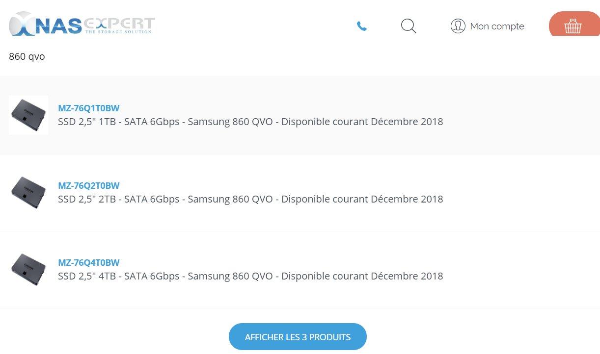 Samsung SSD 860 QVO von Händlern enthüllt