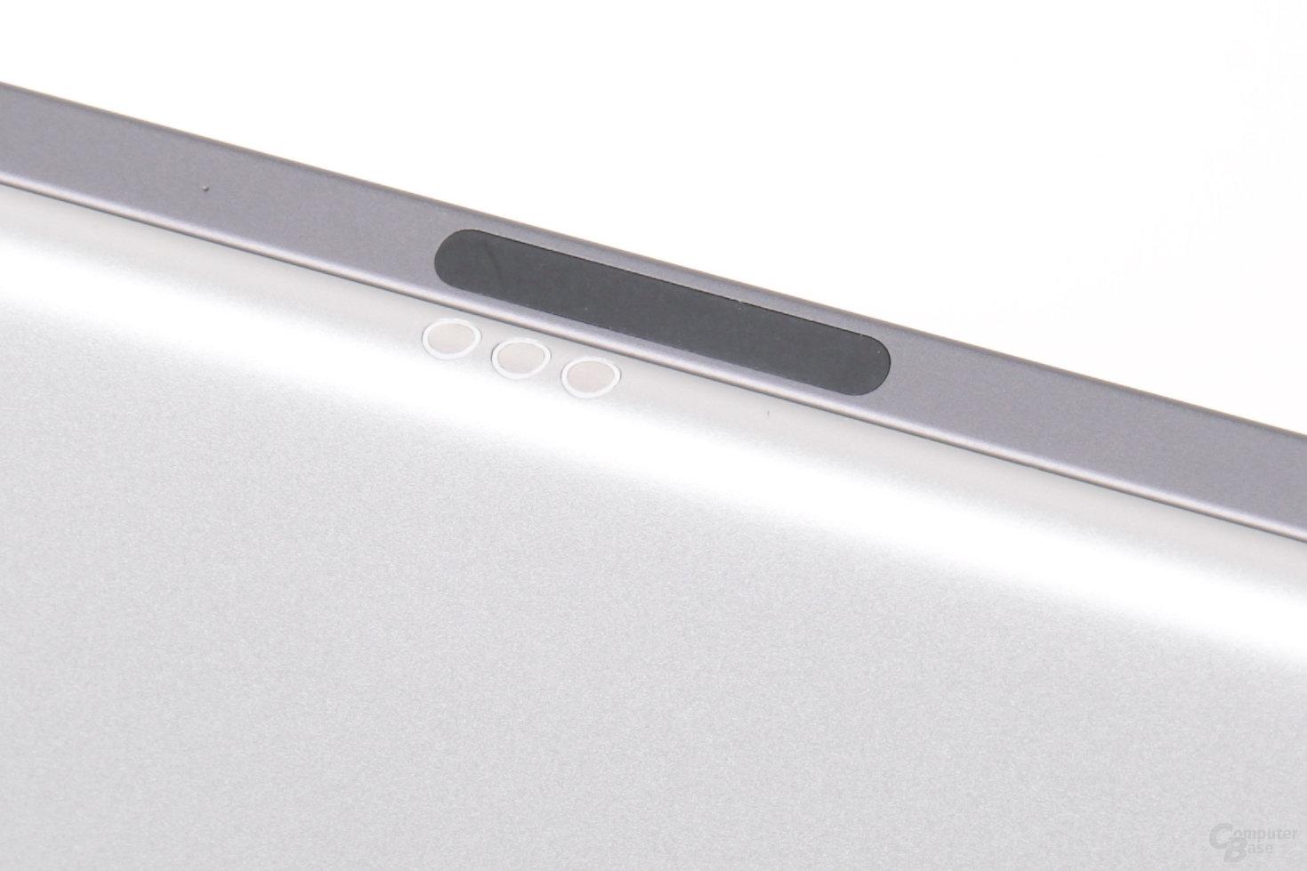 An dessen Stelle sitzt nun der Magnetic Connector für den Apple Pencil