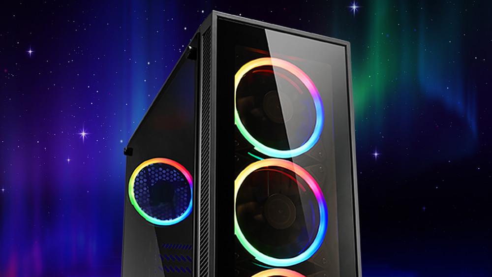 TG4 & Skiller SGC1 RGB: Sharkoon zeigt vier Gehäuse mit Glas und Beleuchtung