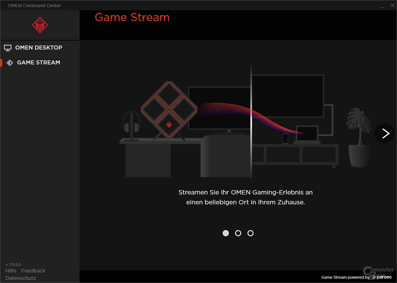 Und über Game Stream wird der Rechner zum Streaming-System