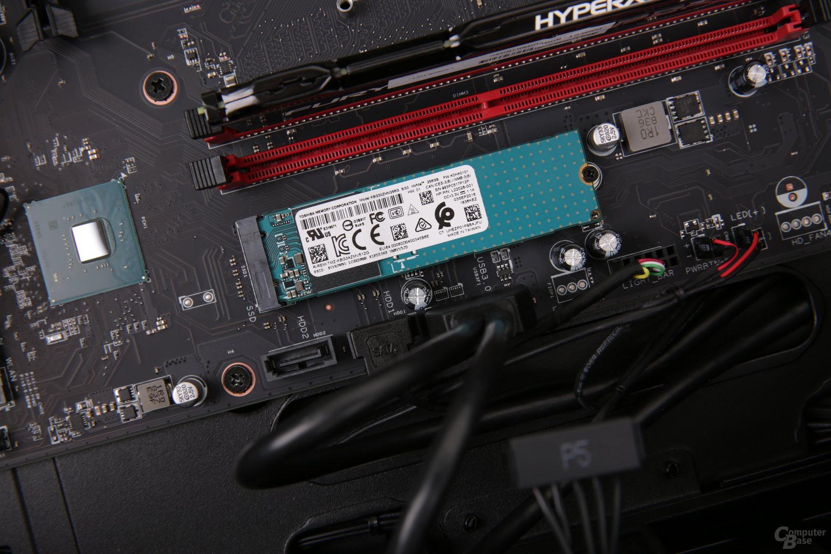 Der M.2-Steckplatz unterstützt PCIe x4 3.0